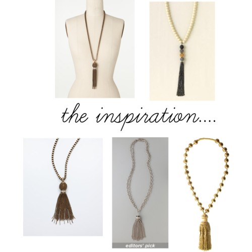 Make Your Own Tassel Necklace: Sunday Crafts: Rose Gold Tassel Necklace