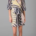 Want. Need. Love. Striped Wrap Dresses from DVF.