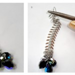 DIY: Sparkly Fishbone Earrings