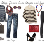 {guest post} Eat, Sleep, Denim styles Stripes & Sequins!