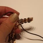 DIY: Rose Gold + Leather Link Bracelet