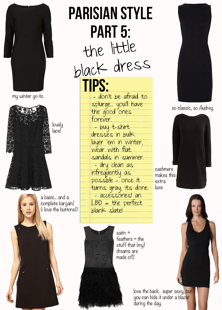 Parisian Style Part 5 The Little Black Dress The Stripe