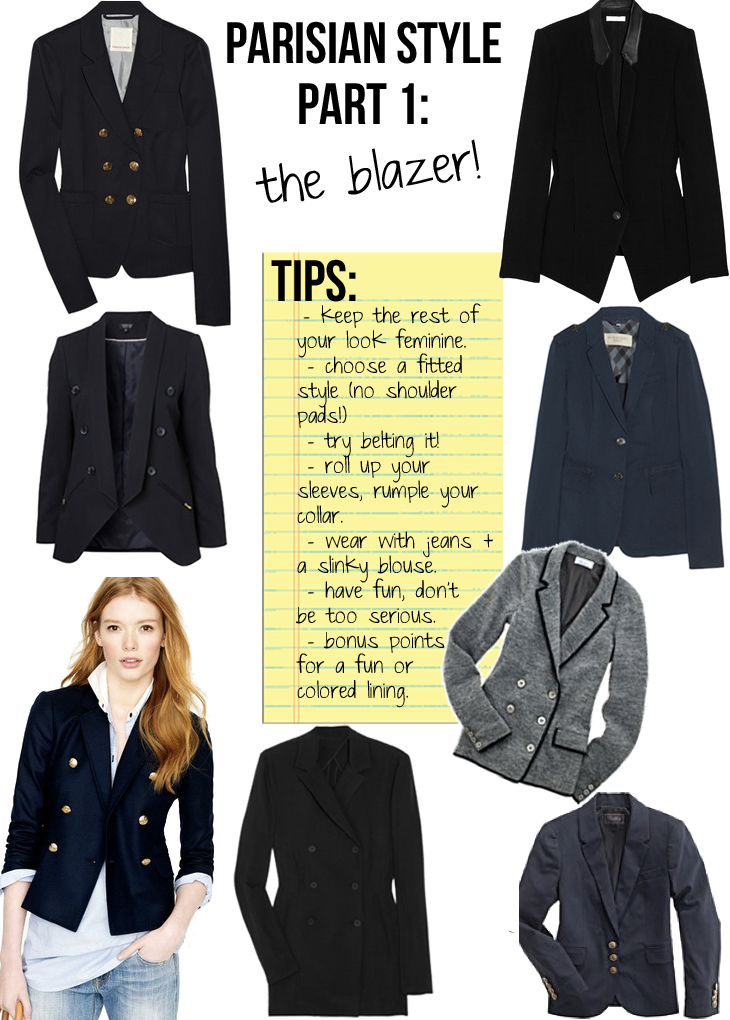 Parisian Style Part 1 The Blazer The Stripe