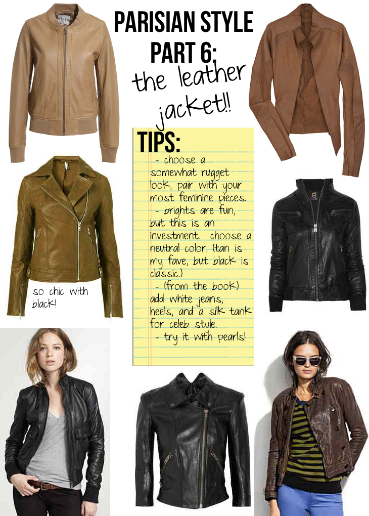 Parisian Style Part 6 The Leather Jacket The Stripe