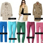 Spring Shopping: Splurging on a Trench, Saving on Colored Denim