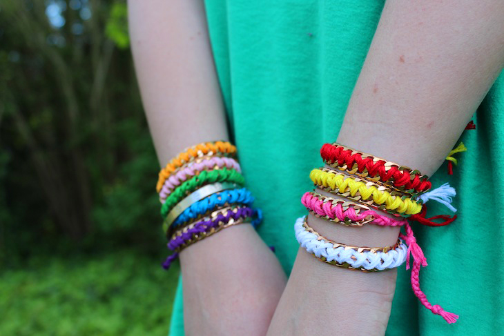 Diy chain friendship bracelets the stripe