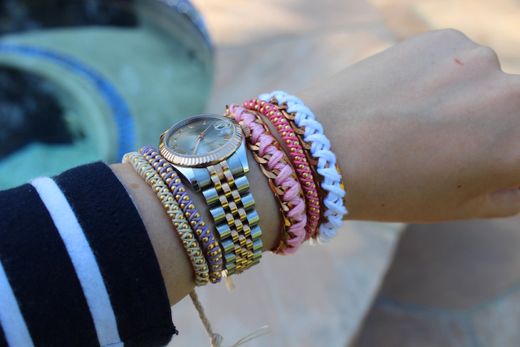Fresh DIY: Triple Ball Chain Bracelet - The Stripe QR25