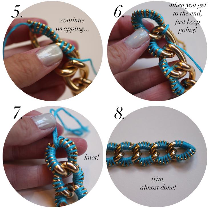Diy chunky link ball chain friendship bracelets the stripe