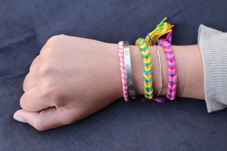 DIY Friendship Bracelets: Fishtail Braid. - The Stripe