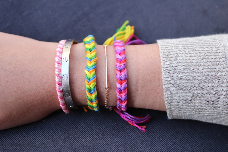 Diy friendship bracelets fishtail braid the stripe