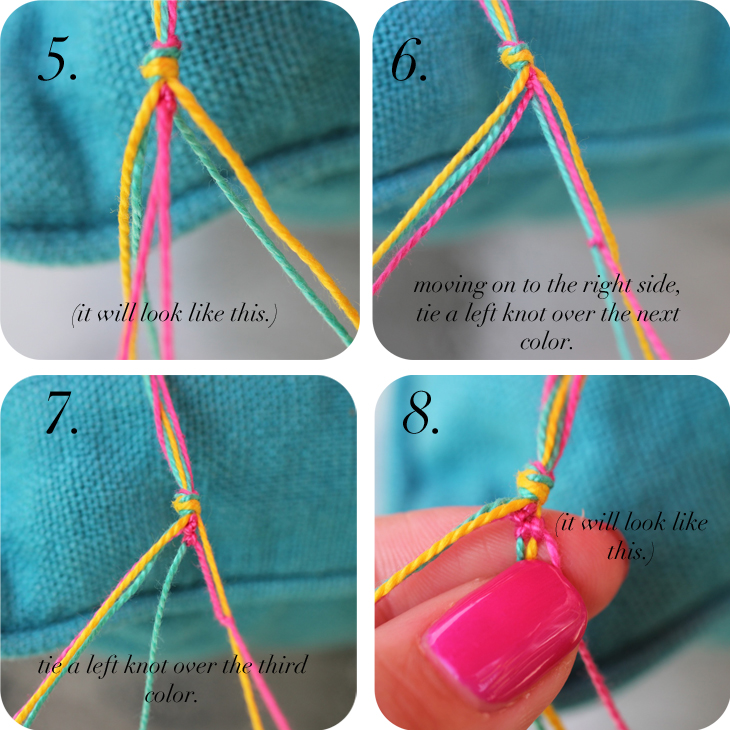 Diy string bracelet easy