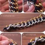 DIY:  CC Skye Inspired Two Tone Chain Bracelet