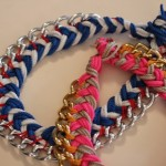 DIY Chevron + Chain Necklace