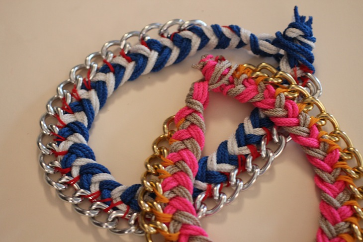 e16fc963f04e DIY Chevron + Chain Necklace - The Stripe