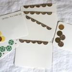 Weekend DIY:  Glitter Note Cards
