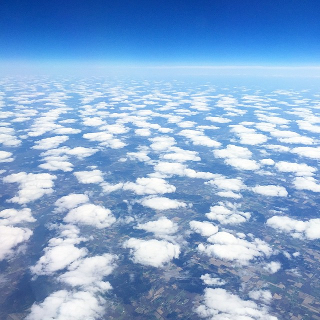 dreamy clouds. can't wait to get home! ☁️✈️☁️