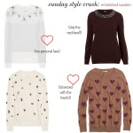 Sunday Style Crush:  Embellished Sweaters
