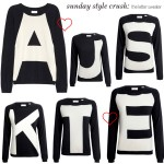 Sunday Style Crush:  Chinti & Parker Letter Sweater