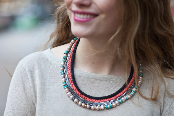 DIY Lizzie Fortunato inspired necklace