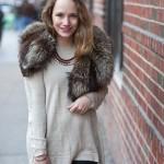 Outfit:  Vintage Fur Collar