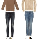 Putting it Together:  Chunky Knits + Metallic Heels