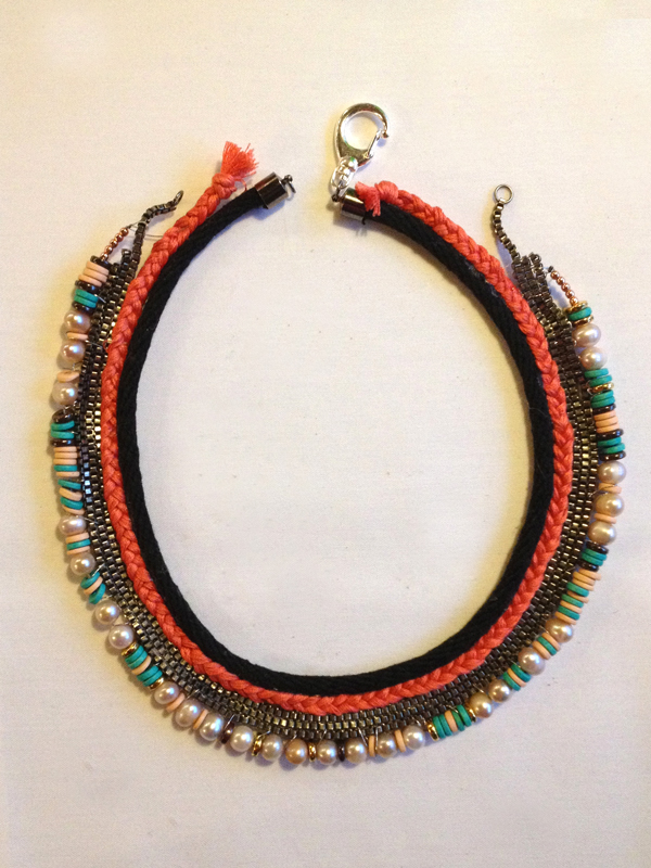 DIY Lizzie Fortunato inspired Collar - Stripes & Sequins