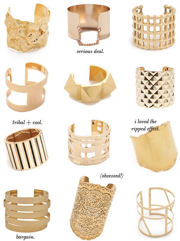 Gold Statement Cuffs