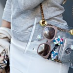 DIY:  Chain Strap Swarovski Embellished PVC Clutch