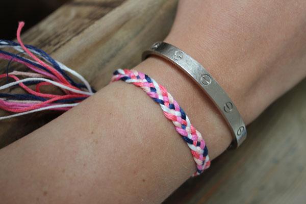 Diy Friendship Bracelets 5 Strand Braid The Stripe