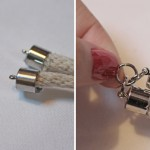 DIY:  Tory Burch inspired Rope + Metal Ring Necklace