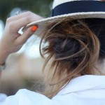 Messy Bun Orange Nailpolish