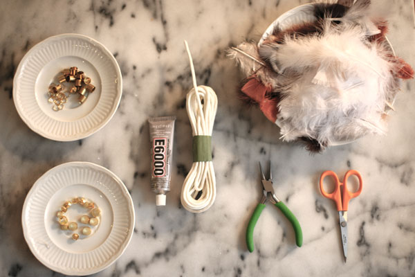 DIY-Feather-Necklace-Materials