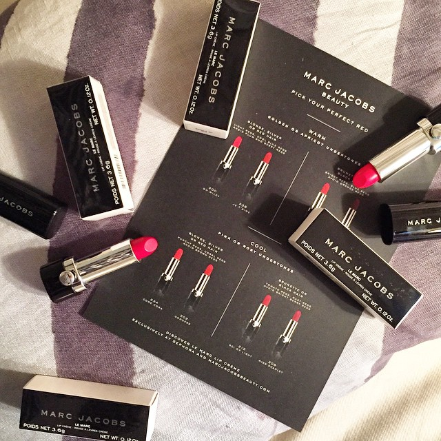 coolest delivery from @marcbeauty: Find your perfect red! as a…