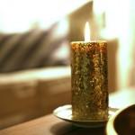 DIY: Glitter Candles.