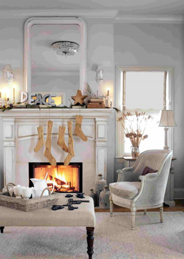 modern fireplaces ideas with pretty traditional christmas ornaments including mantel fireplace and contemporary furniture decorating ideas for new christmas - Fireplace Hearth Christmas Decorating Ideas