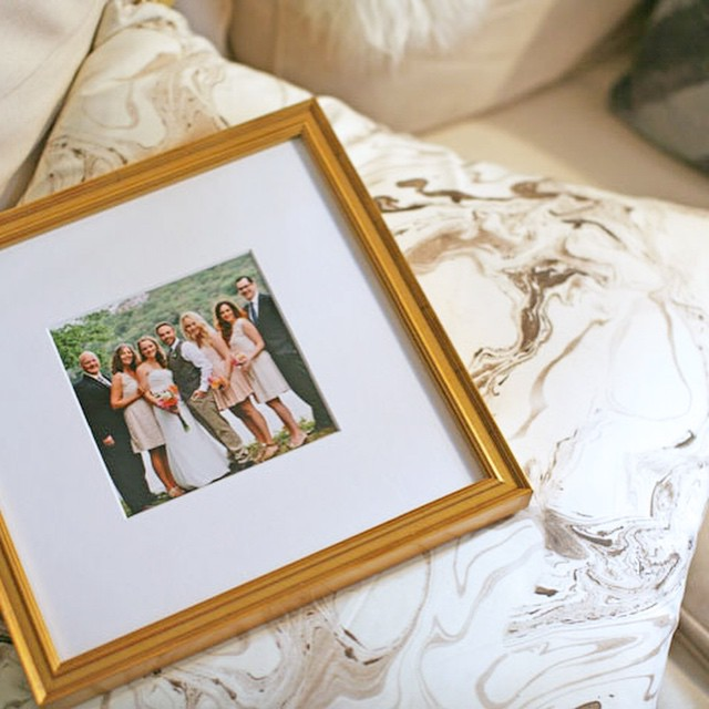 framed this Insta from my sister's wedding using @framebridge's super…