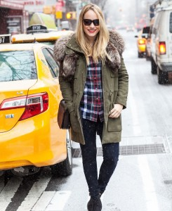 Emerson Fry Coat // Vintage Fur // Equipment Top // James Jeans // Old Navy Boots // Kate Spade Saturday Bag