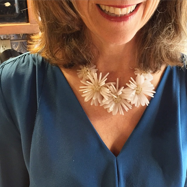 my beautiful mom in her favorite @lele_sadoughi necklace. so happy…