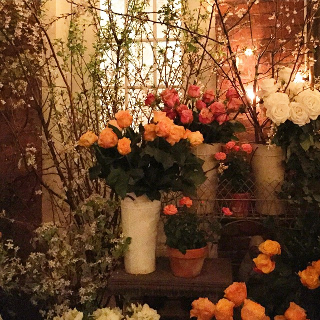 from last night's dinner at @palmanyc. so happy the garden…