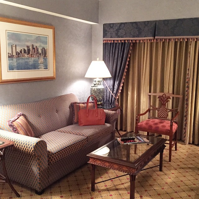 home for the next few nights... #boston #lovethiscity #wantthatchair @bostonharborhotel…