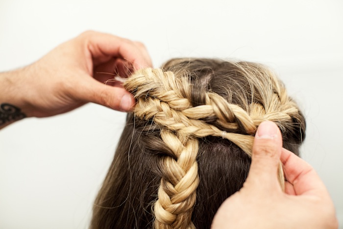 game of thrones khaleesi braid hair tutorial step 16