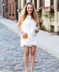 white crochet top skirt topshop