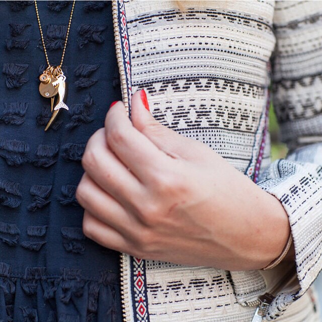 details from today's post. love my #baublebar charm necklace so…