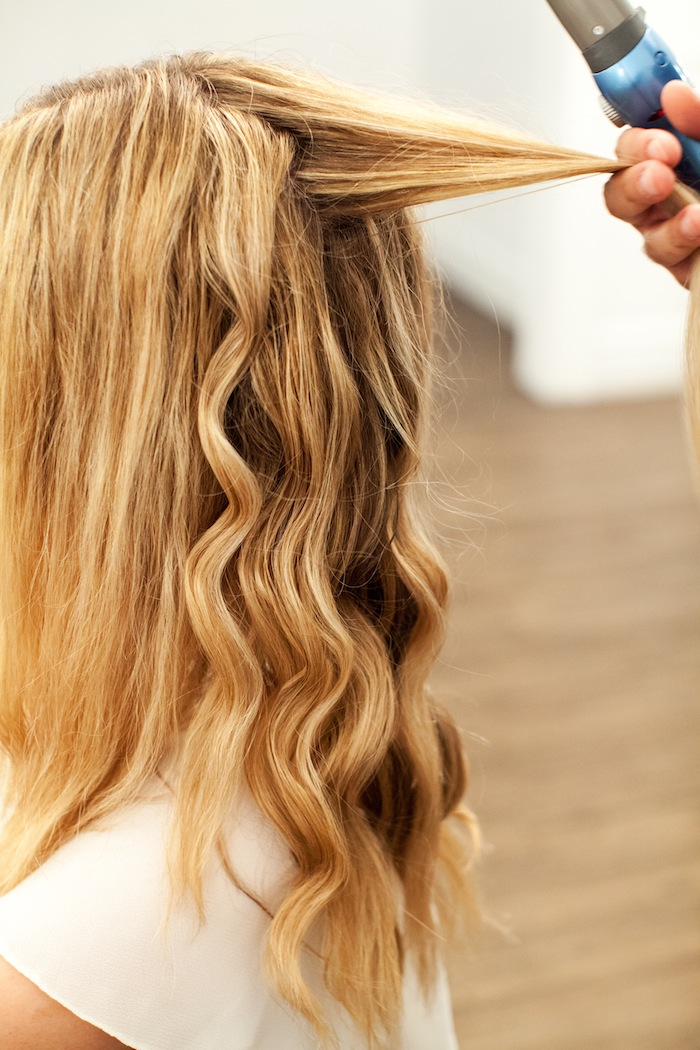 how to use curling tongs long hair