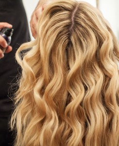Beach Waves Hair Tutorial, The Stripe