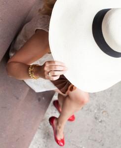 Artesano Hat // SEA Dress // Repetto Ballet Flats // Saint Laurent Bag
