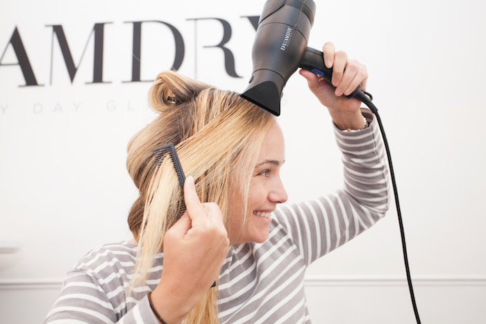 how to blow out your hair 13