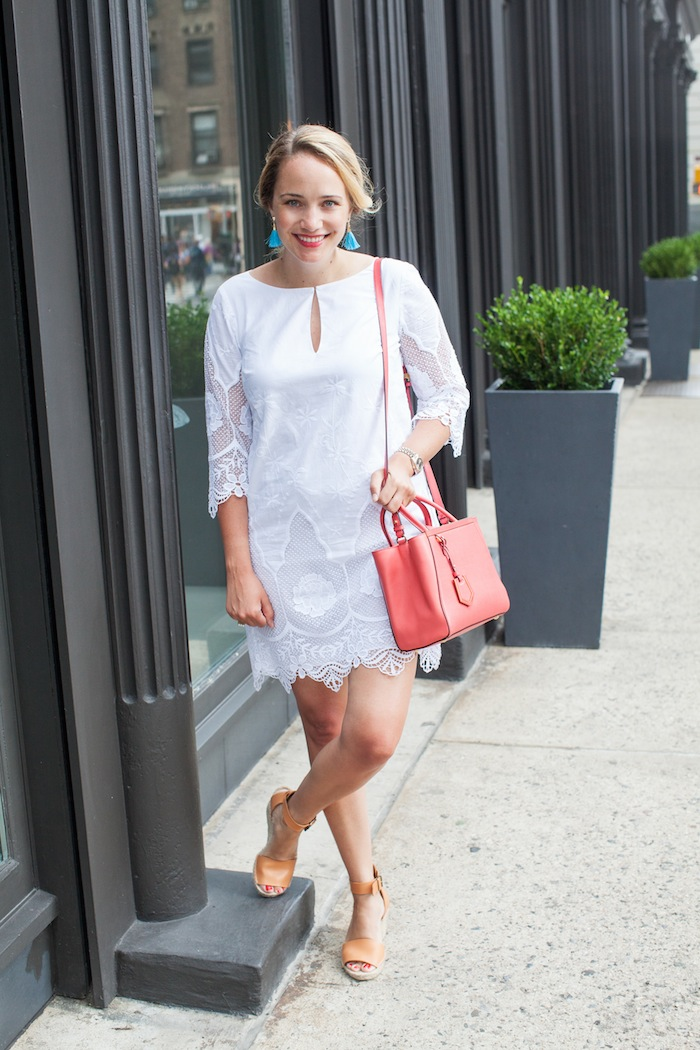 Ann Taylor Embroidered Tunic Dress - The Stripe.