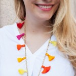 DIY Beaded Tassel Necklace.