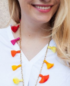 DIY Beaded Tassel Necklace Tutorial - The Stripe.